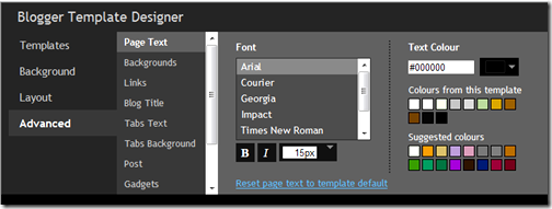 Changing fonts, font colours and sizes