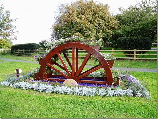 Floral display, Cayton Village