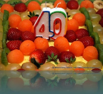 torta 40 ann - lapiccolacasa pi