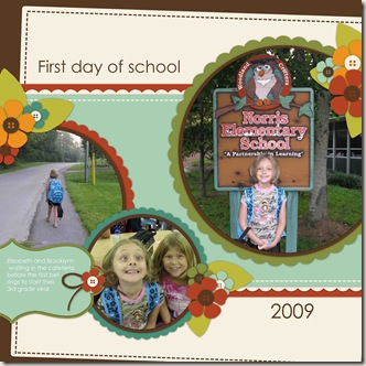 Lizzie first day of school 2009 copy
