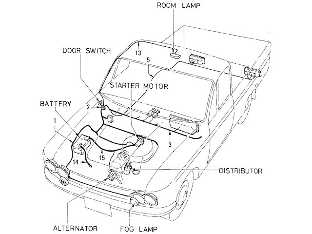 datsun pickup 520  521 parts illustration no 022a 1 wiring