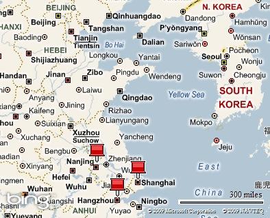 Albatrosses Nanjing Huaian Jiangsu Province China - Huaian map