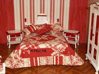 El rincon mini de mary mayo 2010 for Dormitorio granate