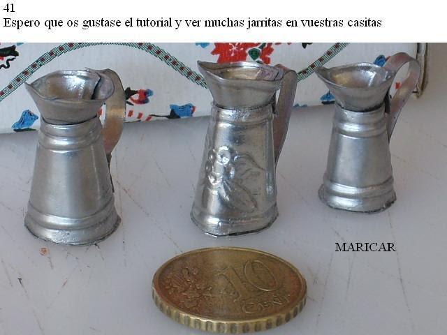 El rincon mini de mary tutorial para hacer jarras de metal - Como hacer una sombrilla para jardin ...