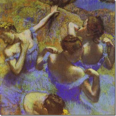 degas the blue dance