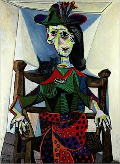 Dora Maar with Cat obra de pablo picasso