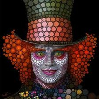 Ben Heine Mad Hatter  Johnny Depp