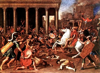 The Destruction of the Temple at Jerusalem poussin