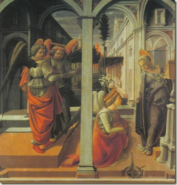 The Annunciation  Fra Fillippo  Lippi