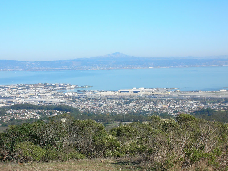 View east across the Bay to Mount Diablo