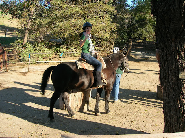Serena riding Tonto