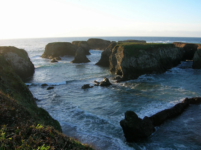 Rugged sea stacks