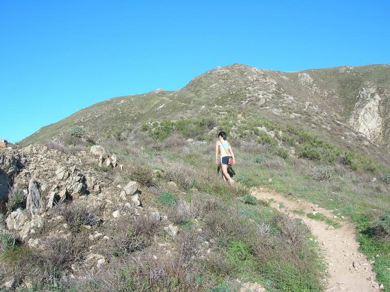 Ascending the steep slopes
