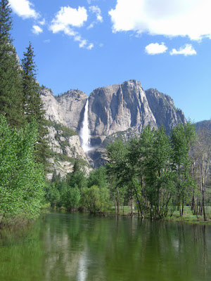 Yosemite Falls from the swinging bridge