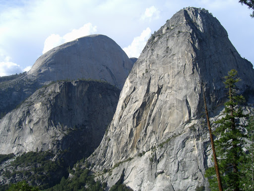 Half Dome, Mt Broderick, and Liberty Cap