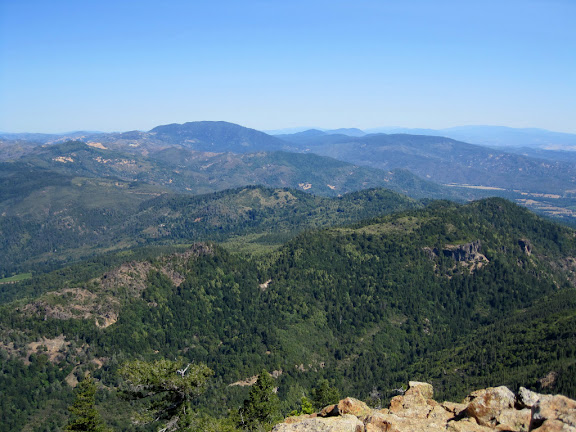 View of the Myacamas Mountains, including Cobb Mountain and Mount Konocti