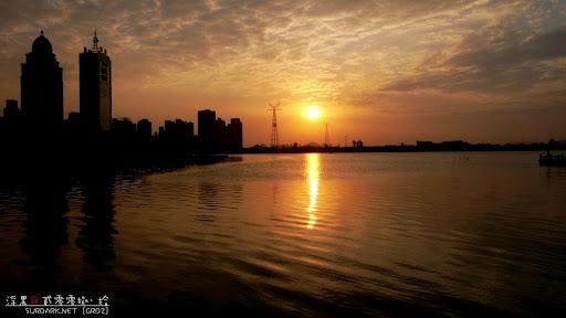 日落白鹭洲