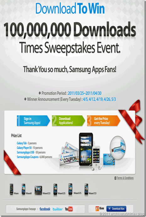 samsung-sweepstakes-offer details