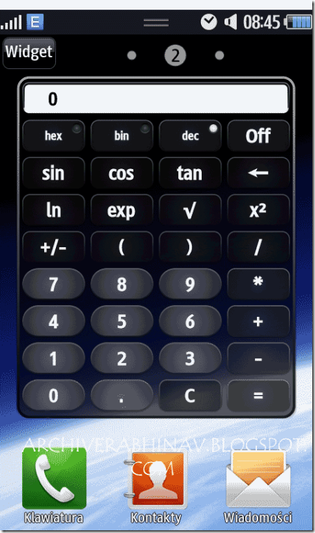 CalCulator-WIDGET-SAMSUNG