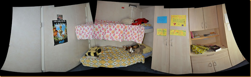 girls' bedroom stitched
