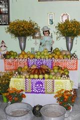 Ofrenda en la casa del a fam. Meza Vazquez -Sta. María Aztahuacan