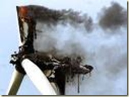 turbine on fire