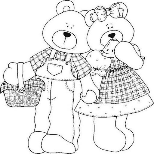 Dibujos de osos country para imprimir - Imagui