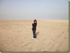 Debbie in desert