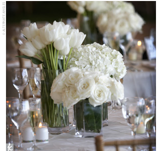 single bloom centerpieces