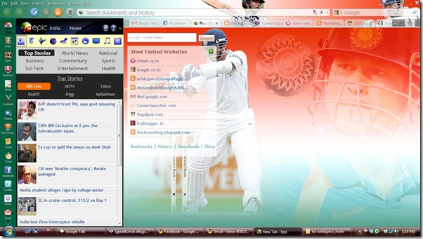 newtab_sachintheme