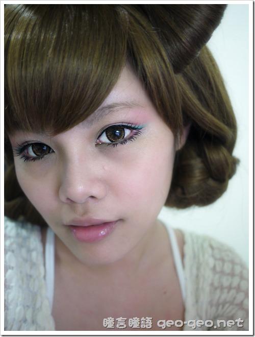 GEO WMM-506Latte咖、日韓系小S蝴蝶結髮插、magic magic baby eye下睫毛、日本雜誌大推小惡魔御用多層次感長髮