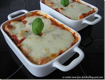 Gnocchi cu piept de pui şi mozzarella - gratinam la cuptor
