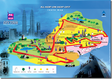 hop-on hop-off rute map