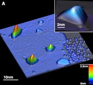 nanotubos de grafeno no miscroscópio de tunelamento