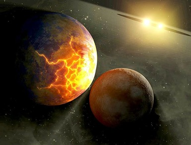 colisão de planetas