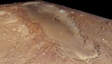 cratera Orcus Patera em Marte