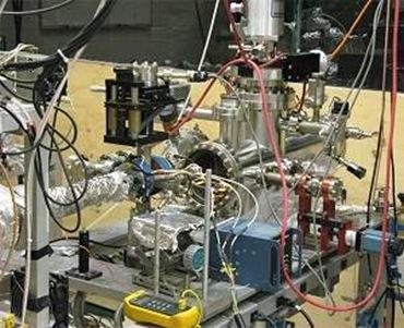 câmara de alto vácuo para criação de positrônio