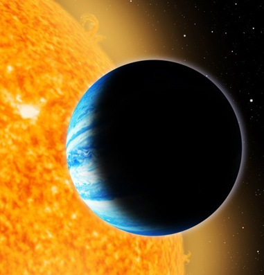 ilustração do exoplaneta Qatar-1b