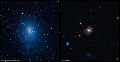 galáxias Abell 644 e galáxia SDSS J1021+131