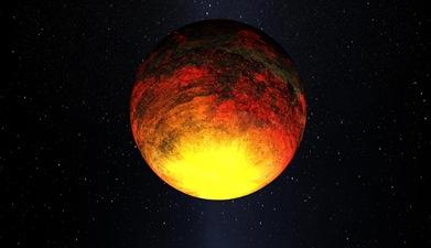 ilustração do exoplaneta Kepler-10b