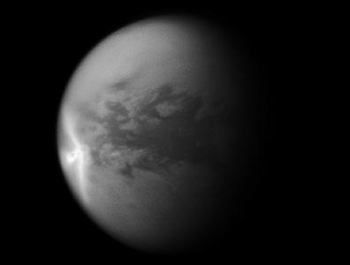chuva de metano em Titã