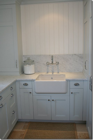 best of both worlds -she put a Shaws farmhouse sink in her laundry ...