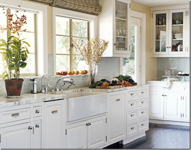 This Kitchen Via Traditional Home Has All Glass Front Cabinets The