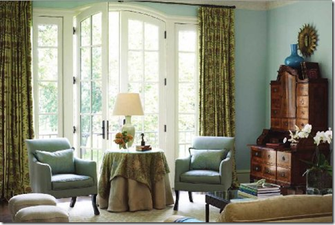 Curtains Ideas cover walls with curtains : Things That Inspire: Blue and green should not be seen without a ...
