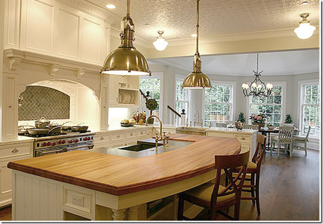 Things that inspire breakfast rooms for Open kitchen island ideas