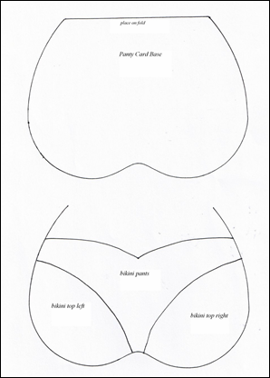 Bra and Panty template