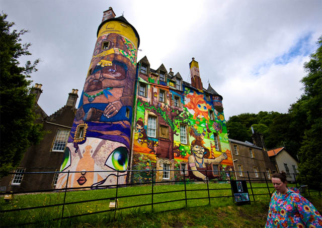 ethjrwthfrdgyukuj Amazing 3D Graffiti Art, Castles and buildings : Part 2