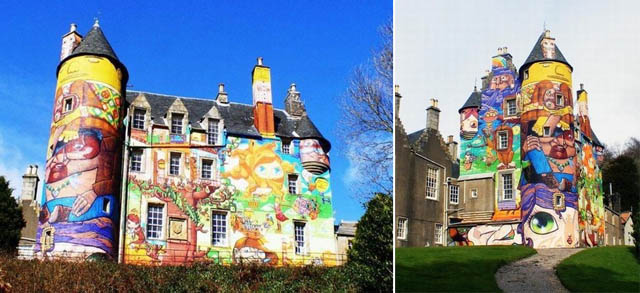 trhserthesredf Amazing 3D Graffiti Art, Castles and buildings : Part 2