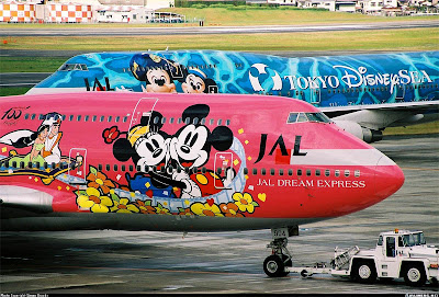 Mickey Mouse Art Airplane