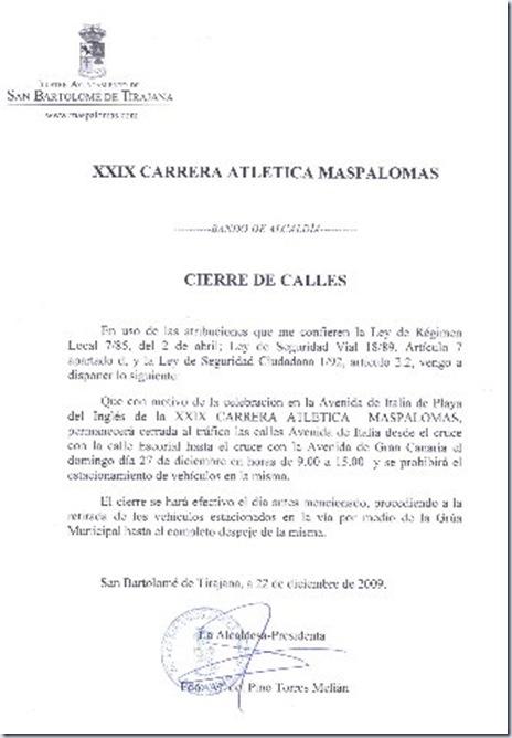 BANDO CIERRE CALLES carrera atletica 2009_330x480